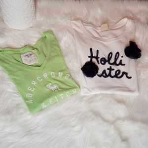 Bundle of two t-shirts Abercrombie and Hollister